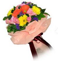 Konya kaliteli taze ve ucuz çiçekler  Karisik mevsim çiçeklerinden demet