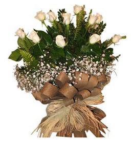Konya anneler günü çiçek yolla  9 adet beyaz gül buketi
