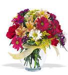 Konya çiçek online çiçek siparişi  cam yada mika vazo içerisinde karisik kir çiçekleri