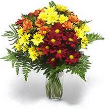 Konya güvenli kaliteli hızlı çiçek  Karisik çiçeklerden mevsim vazosu