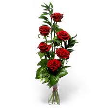 Konya çiçekçi telefonları  mika yada cam vazoda 6 adet essiz gül