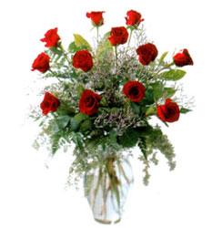 Vazo içerisinde 11 kirmizi gül  Konya İnternetten çiçek siparişi
