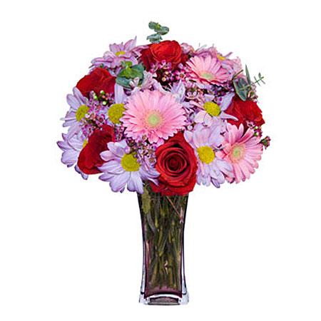 Görsel hediye karisik cam mevsim demeti  Konya kaliteli taze ve ucuz çiçekler