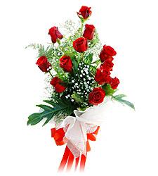 11 adet kirmizi güllerden görsel sölen buket  Konya İnternetten çiçek siparişi