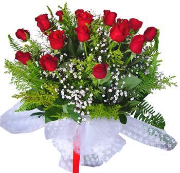 11 adet gösterisli kirmizi gül buketi  Konya yurtiçi ve yurtdışı çiçek siparişi