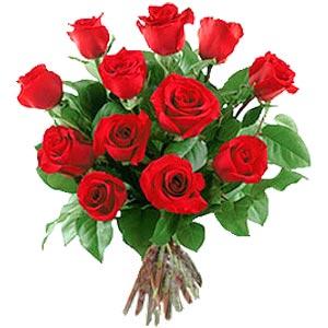 11 adet bakara kirmizi gül buketi  Konya çiçekçiler