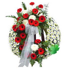 Cenaze çelengi cenaze çiçek modeli  Konya çiçekçi telefonları