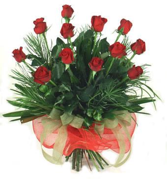 Çiçek yolla 12 adet kirmizi gül buketi  Konya çiçekçiler