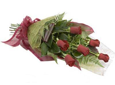 ucuz çiçek siparisi 6 adet kirmizi gül buket  Konya güvenli kaliteli hızlı çiçek