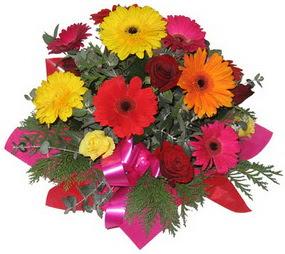 Karisik mevsim çiçeklerinden buket  Konya ucuz çiçek gönder