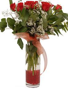 Konya çiçekçi telefonları  11 adet kirmizi gül vazo çiçegi