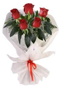5 adet kirmizi gül buketi  Konya online çiçekçi , çiçek siparişi