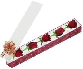 Konya yurtiçi ve yurtdışı çiçek siparişi  kutu içerisinde 5 adet kirmizi gül
