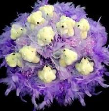 11 adet pelus ayicik buketi  Konya çiçek online çiçek siparişi