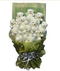 11 adet pelus ayicik buketi  Konya çiçek gönderme sitemiz güvenlidir