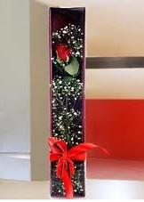 kutu içinde tek kirmizi gül  Konya hediye çiçek yolla
