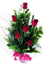 Konya çiçekçiler  5 adet kirmizi gül buketi hediye ürünü