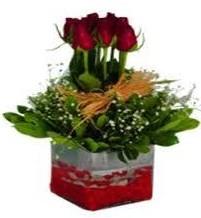Konya 14 şubat sevgililer günü çiçek  7 adet mika yada cam vazoda gül tanzimi