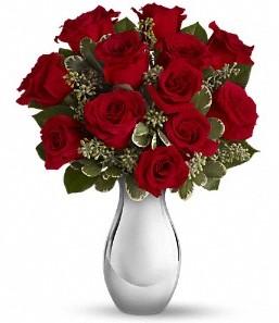 Konya İnternetten çiçek siparişi   vazo içerisinde 11 adet kırmızı gül tanzimi