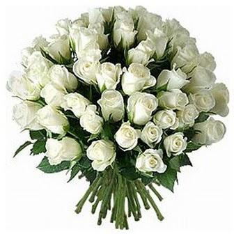 Konya çiçekçi mağazası  33 adet beyaz gül buketi