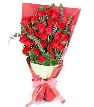 Konya 14 şubat sevgililer günü çiçek  37 adet kırmızı güllerden buket