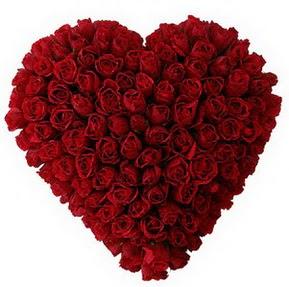 Konya kaliteli taze ve ucuz çiçekler  muhteşem kırmızı güllerden kalp çiçeği