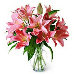 3 dal kazablanka görsel vazosu  Konya çiçek yolla , çiçek gönder , çiçekçi