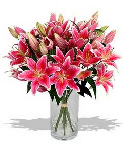 4 dal cazablanca görsel vazosu  Konya kaliteli taze ve ucuz çiçekler