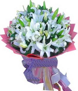 7 dal cazablanca görsel buketi  Konya kaliteli taze ve ucuz çiçekler