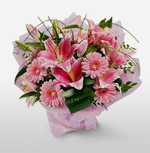 1 dal kazablanka ve kır çiçek görsel buketi  Konya yurtiçi ve yurtdışı çiçek siparişi