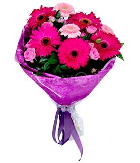 Konya güvenli kaliteli hızlı çiçek  karışık gerbera çiçeği buketi