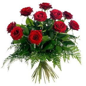 Konya 14 şubat sevgililer günü çiçek  10 adet kırmızı gülden buket