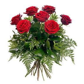 Konya çiçek gönderme sitemiz güvenlidir  7 adet kırmızı gülden buket