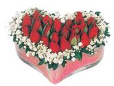 Konya anneler günü çiçek yolla  mika kalpte kirmizi güller 9