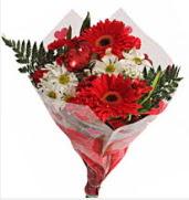 Mevsim çiçeklerinden görsel buket  Konya online çiçekçi , çiçek siparişi