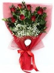 7 adet kırmızı gülden buket tanzimi  Konya çiçek yolla