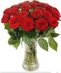 Konya çiçek siparişi sitesi  Vazoda 15 adet kırmızı gül tanzimi