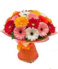 Renkli gerbera buketi  Konya çiçek , çiçekçi , çiçekçilik