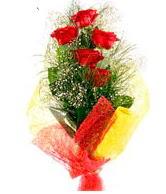 5 li kırmızı gül buketi  Konya yurtiçi ve yurtdışı çiçek siparişi