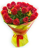 19 Adet kırmızı gül buketi  Konya İnternetten çiçek siparişi