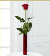 Vazo içerisinde 1 adet kırmızı gül  Konya çiçek yolla , çiçek gönder , çiçekçi