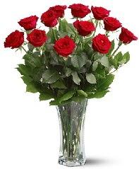 11 adet kırmızı gül vazoda  Konya çiçek yolla , çiçek gönder , çiçekçi