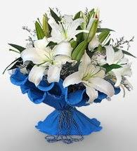 4 dal kazablanka çiçeğinden buket  Konya çiçek yolla