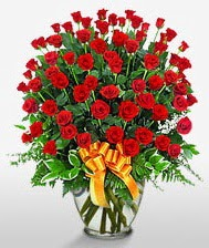 Görsel vazo içerisinde 101 adet gül  Konya çiçek yolla