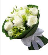 9 adet beyaz gül buketi  Konya güvenli kaliteli hızlı çiçek