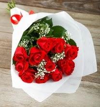 9 kırmızı gülden buket çiçeği  Konya 14 şubat sevgililer günü çiçek