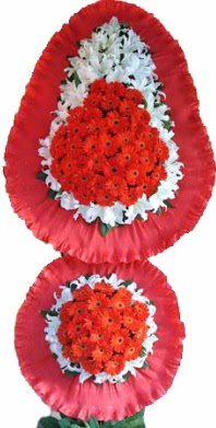 Konya çiçek gönderme sitemiz güvenlidir  Çift katlı kaliteli düğün açılış sepeti