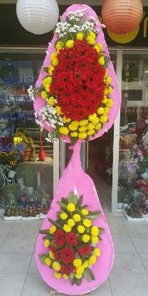Çift katlı düğün nikah açılış çiçek modeli  Konya online çiçekçi , çiçek siparişi