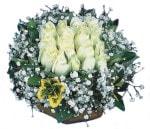 Konya online çiçekçi , çiçek siparişi  Beyaz harika bir gül sepeti