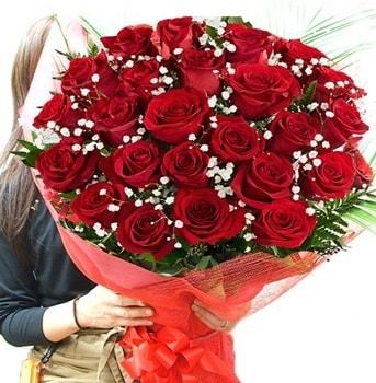Kız isteme çiçeği buketi 33 adet kırmızı gül  Konya cicekciler , cicek siparisi